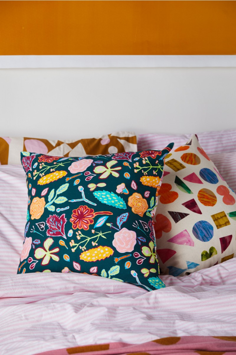Pitched Petals Cushion