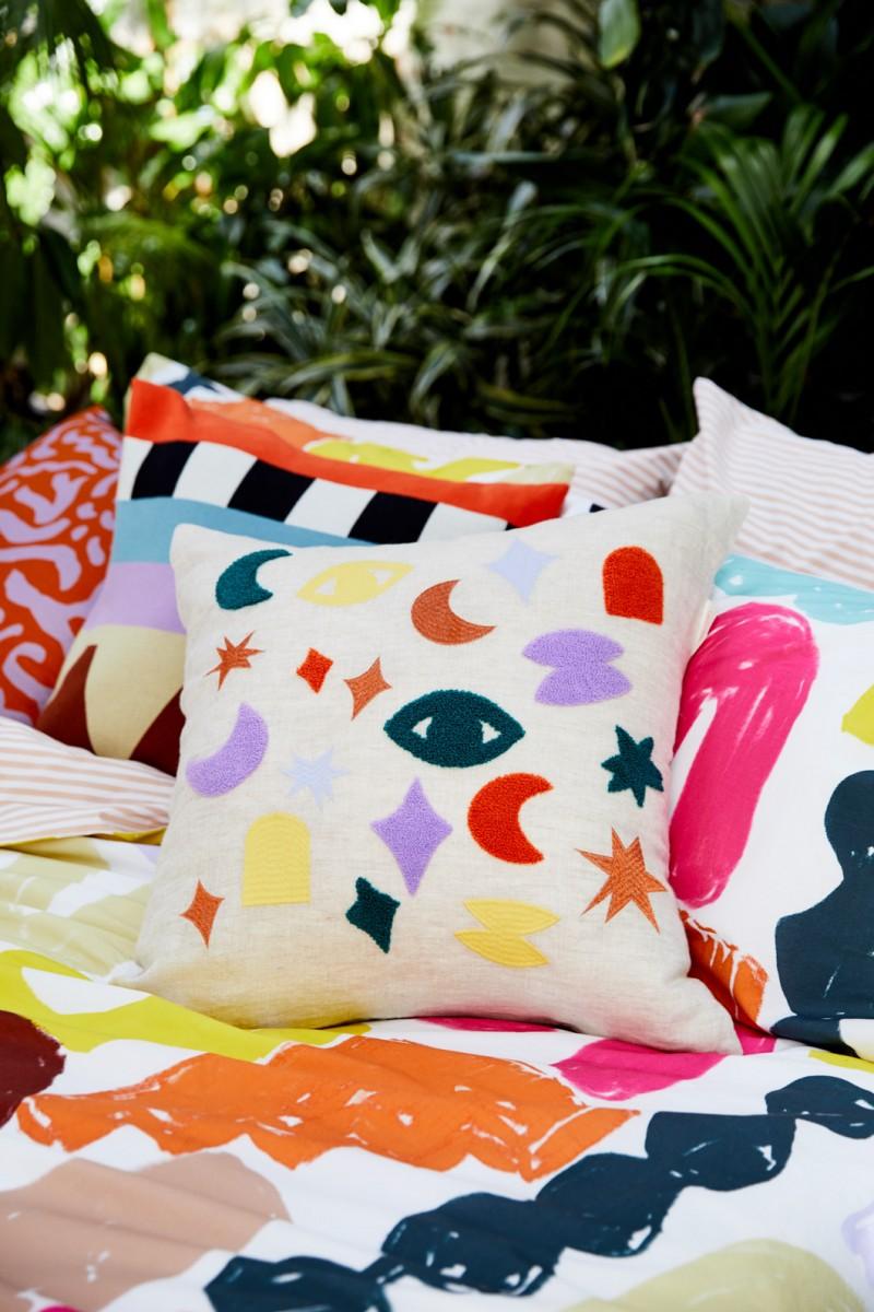 Rococo Embroidered Cushion