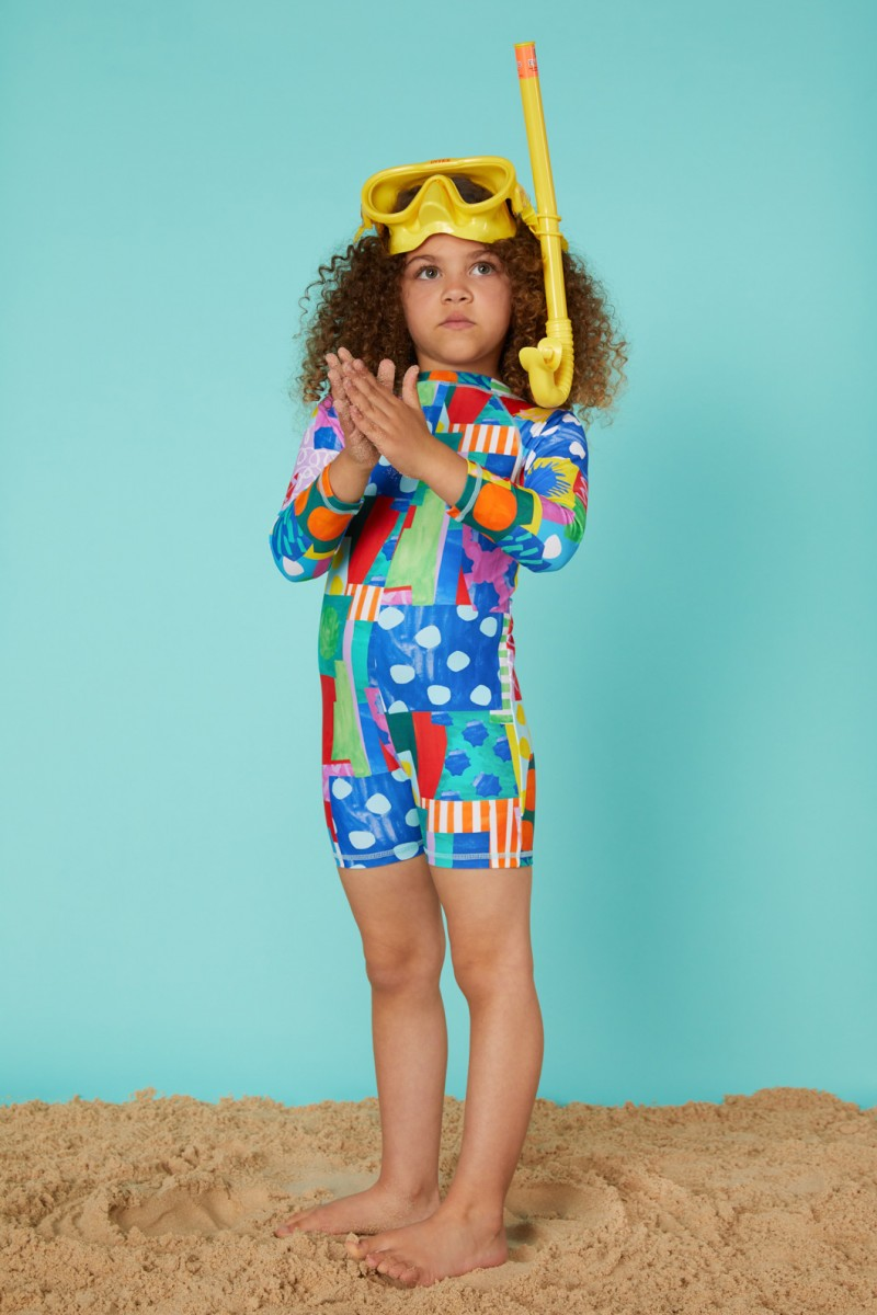 Spotty Blocky Swim Suit