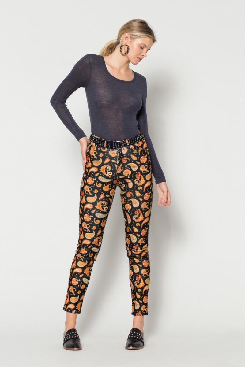 Paisley Cord Jean