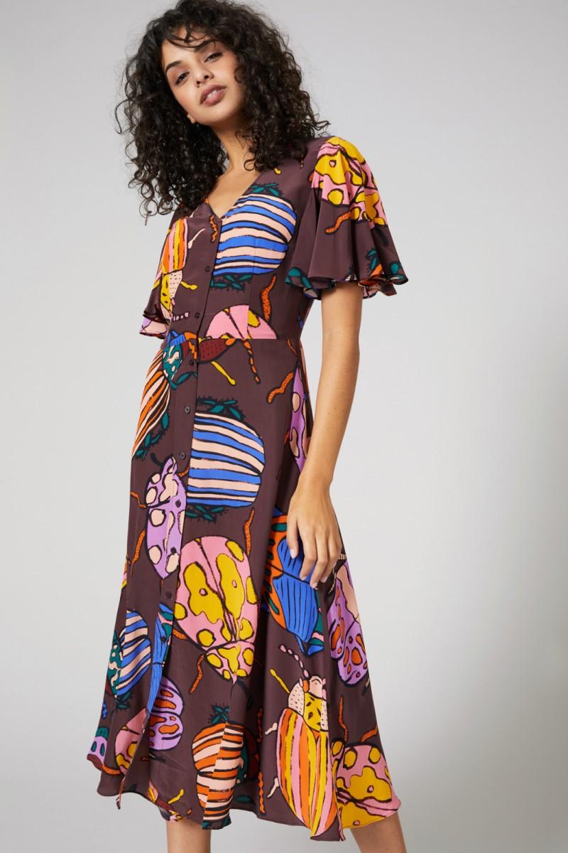 Beetle Juice Silk Dress