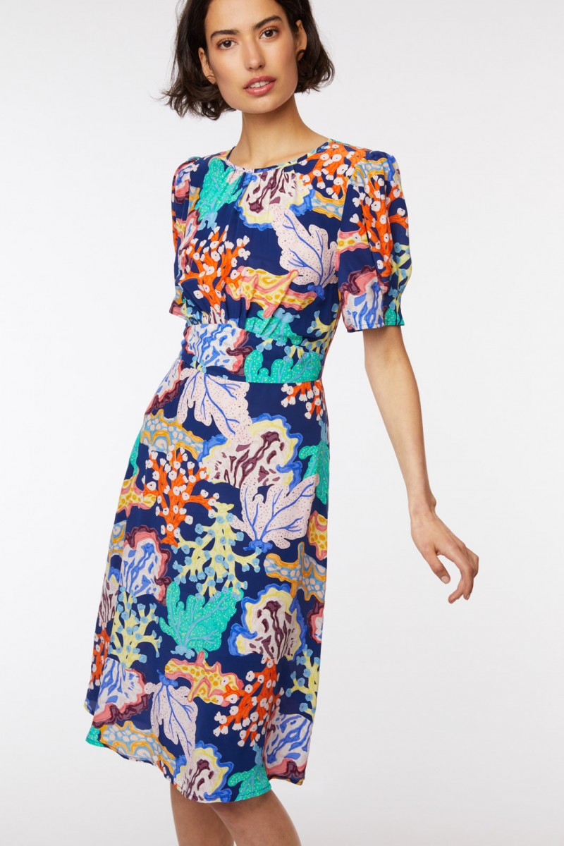Floral Coral Dress