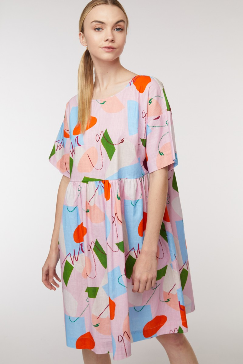 Uncover Upswing Smock Dress