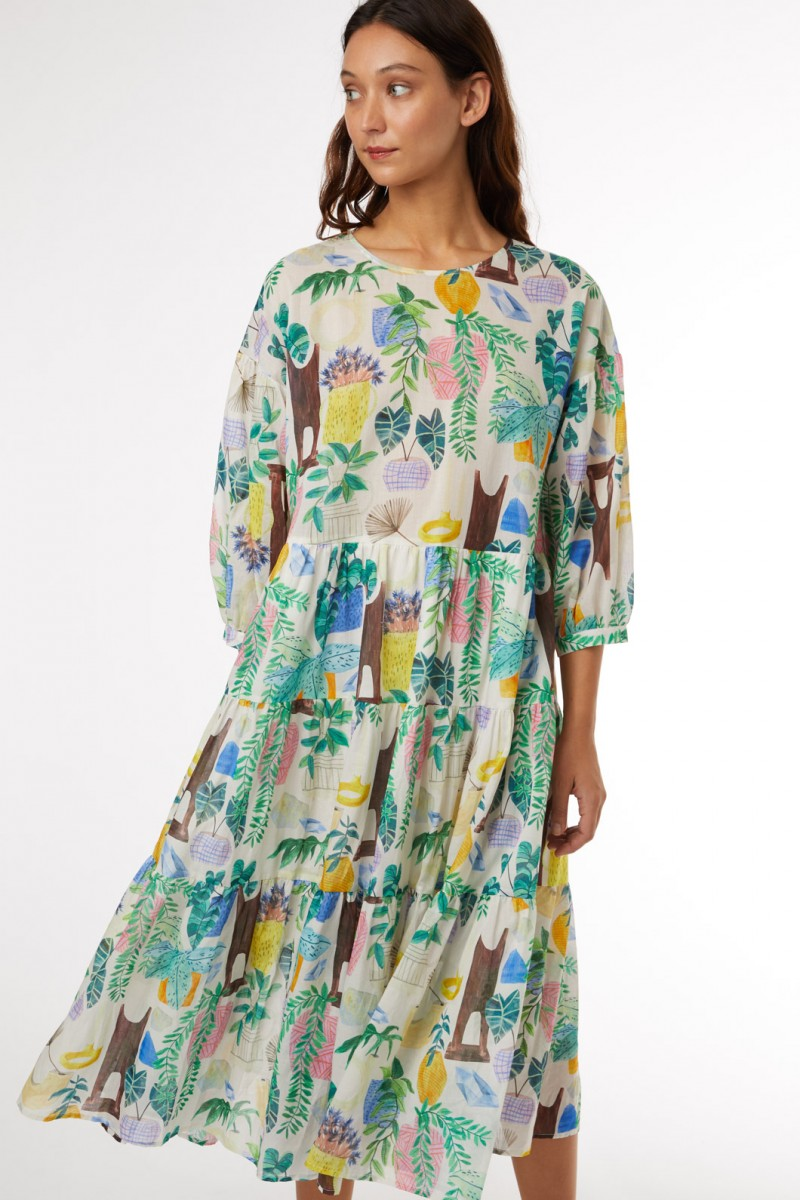 Green Gallery Dress