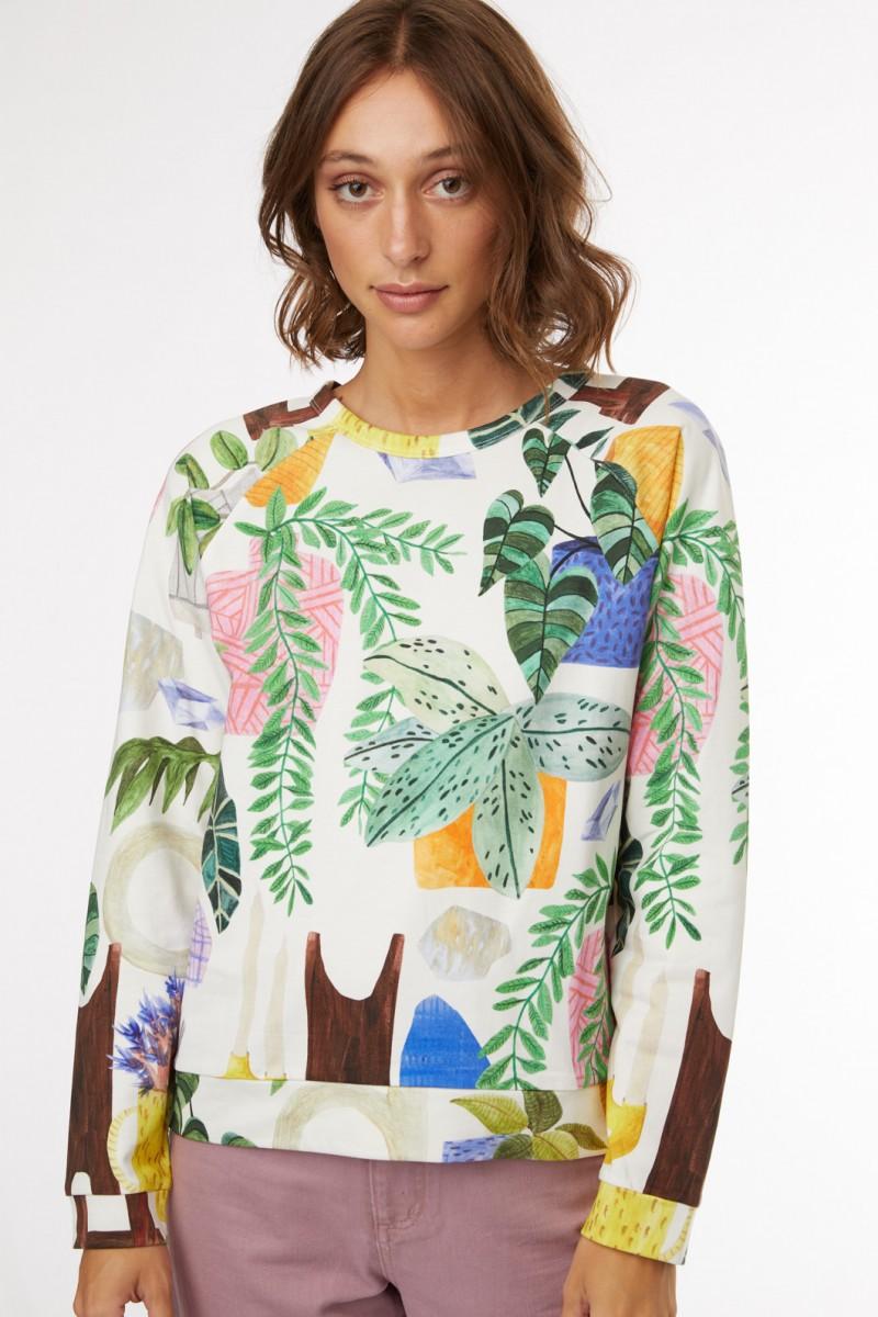Green Gallery Sweater