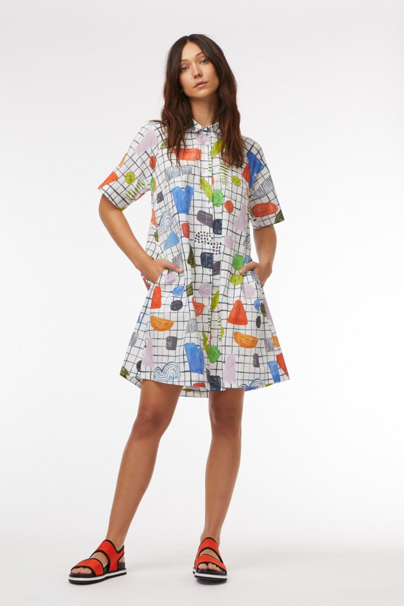 Dot Com Shirt Dress