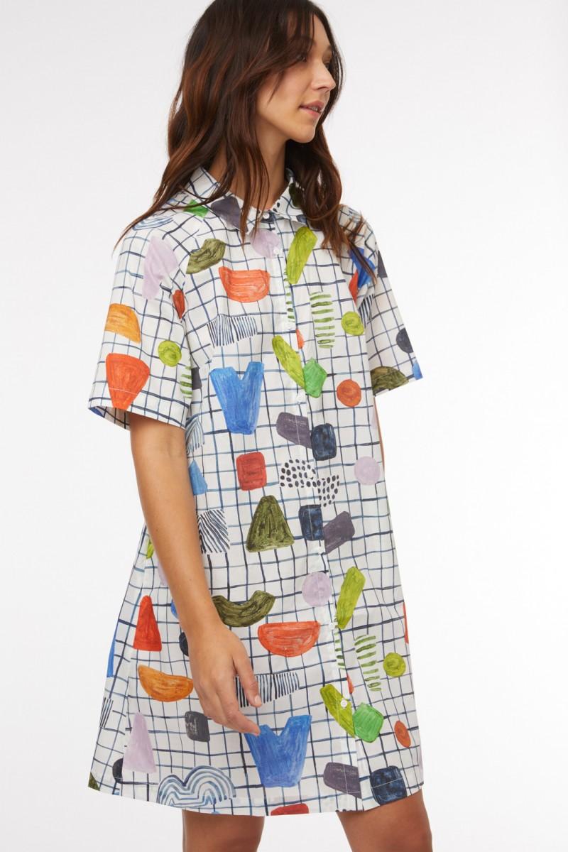 Dot Com Shirt Dress