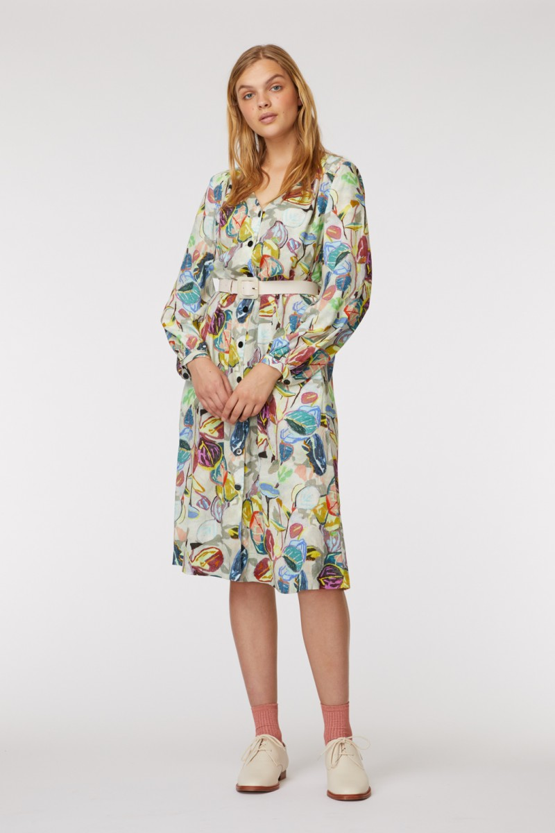 Crayon Garden Shirt Dress