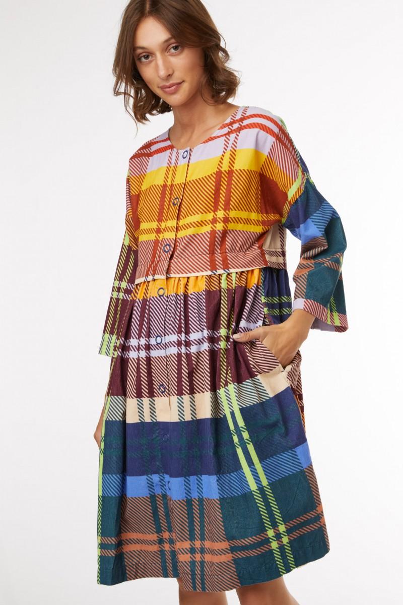 Tartan Trip Cord Dress