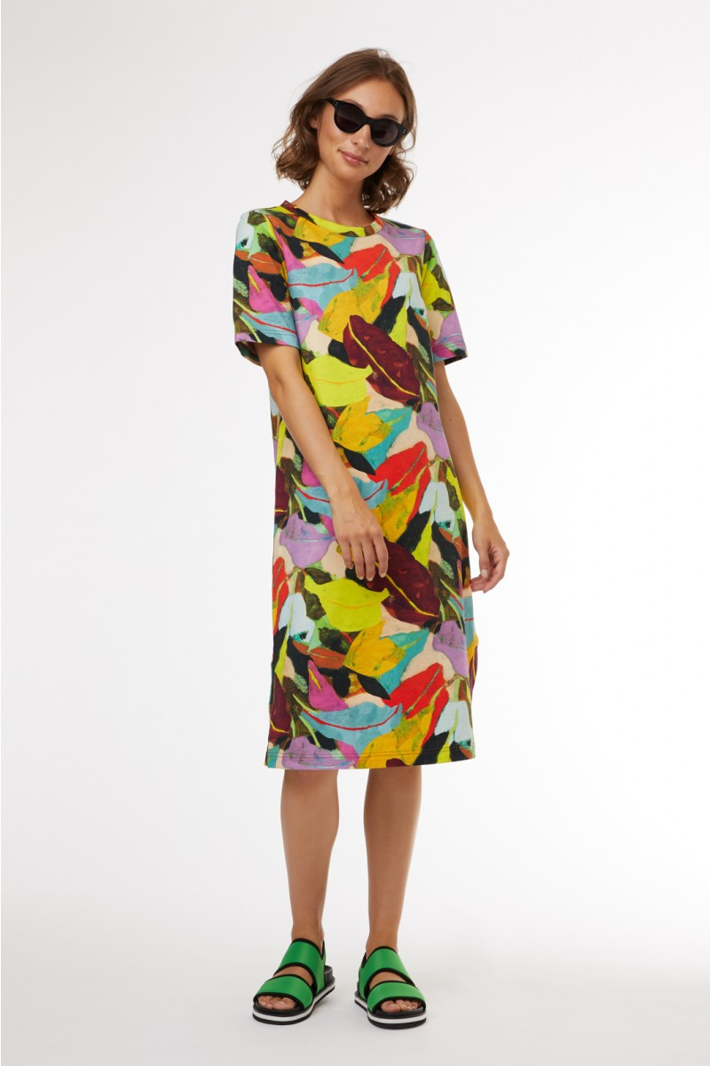 Broad Leaf Jersey Dress