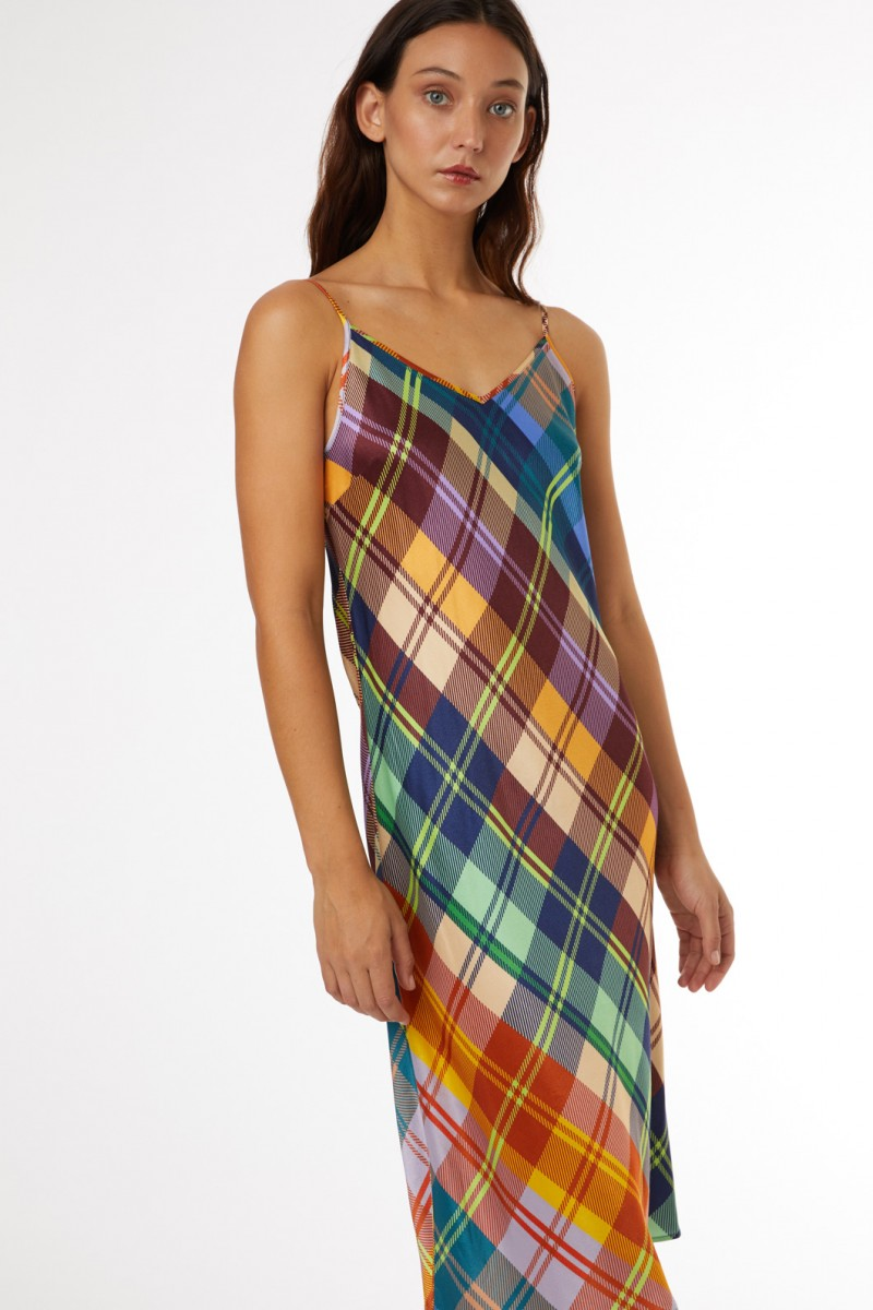Tartan Slip Dress