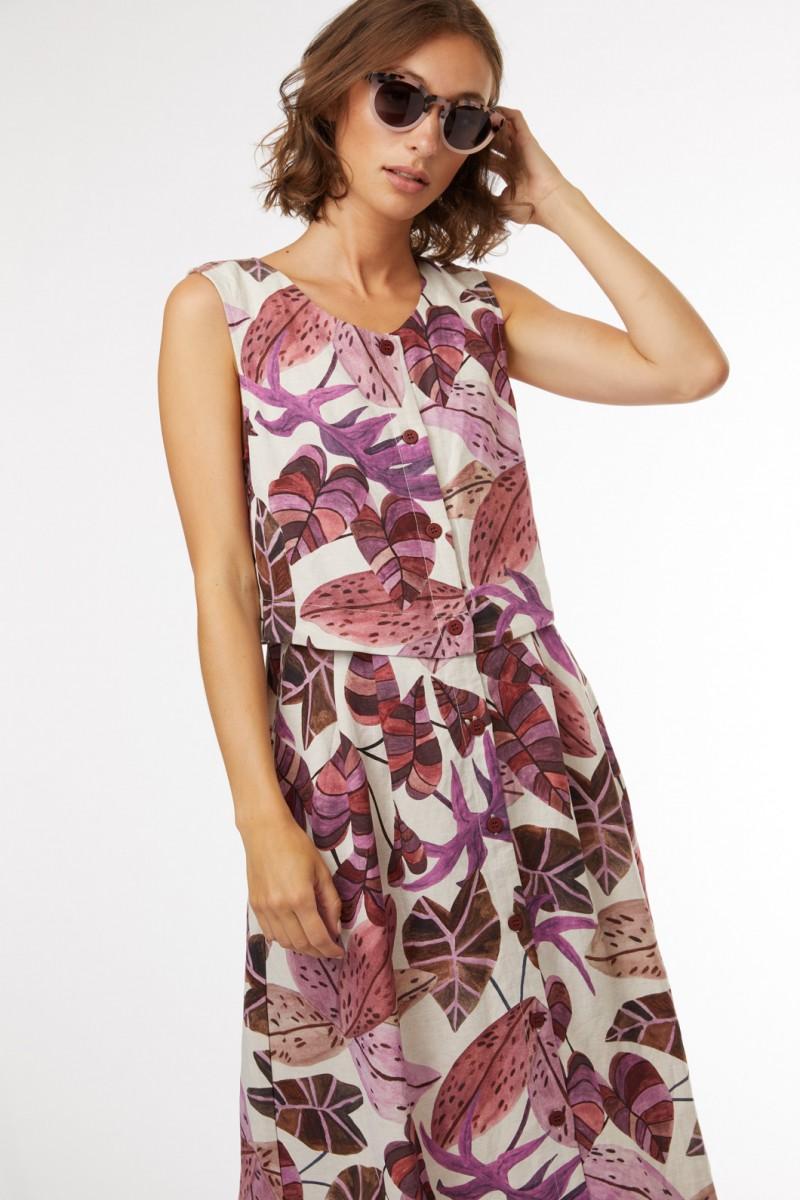 Terrarium Linen Dress