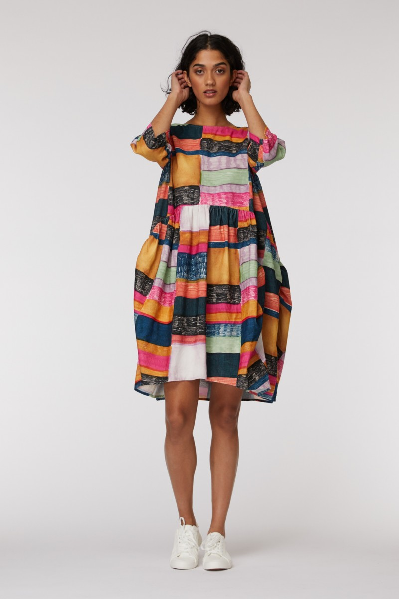 Line Up Cord Dress