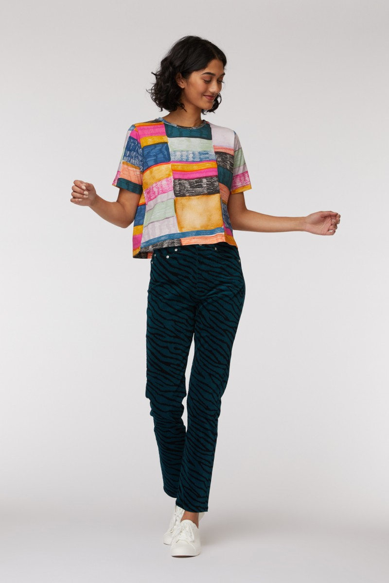 Line Up Cropped Tee