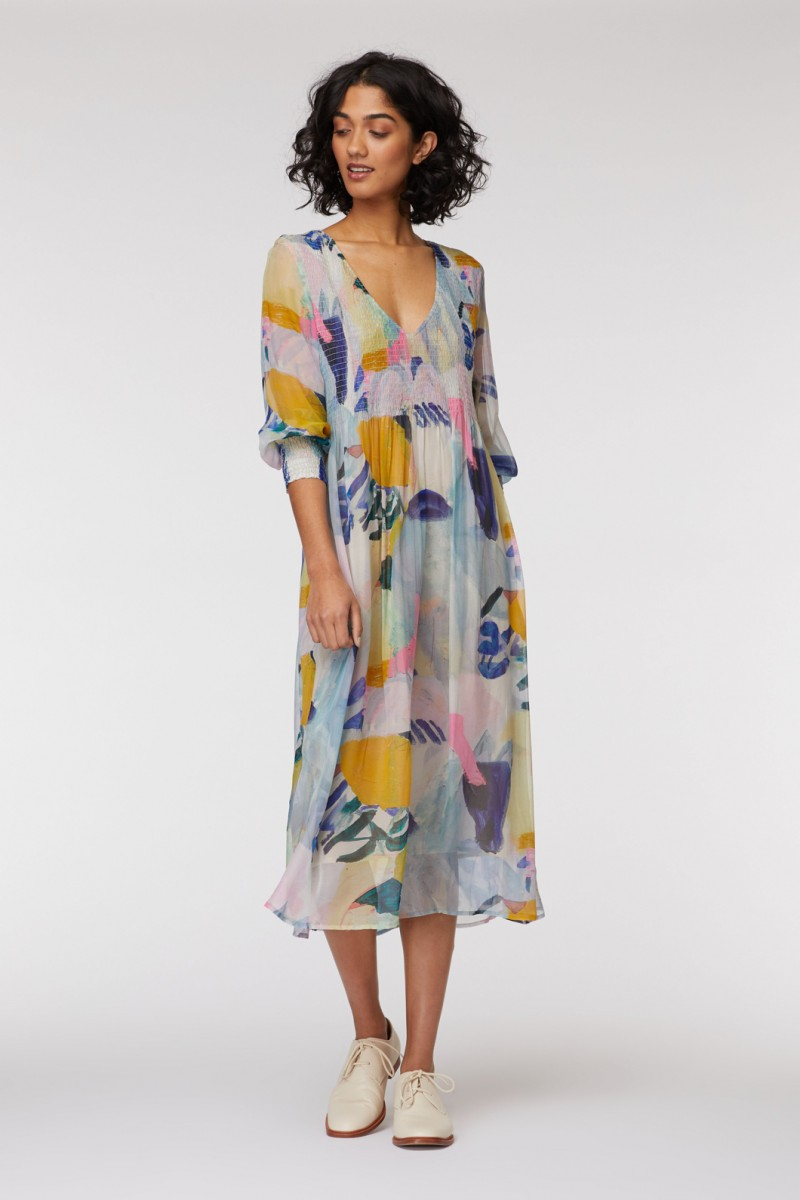 Come Up Here Shirred Dress