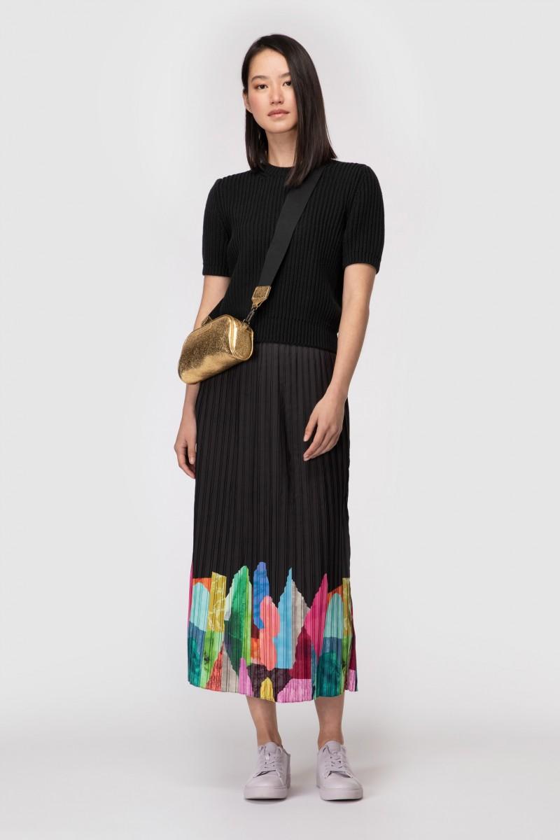 Colour Drop Placement Skirt
