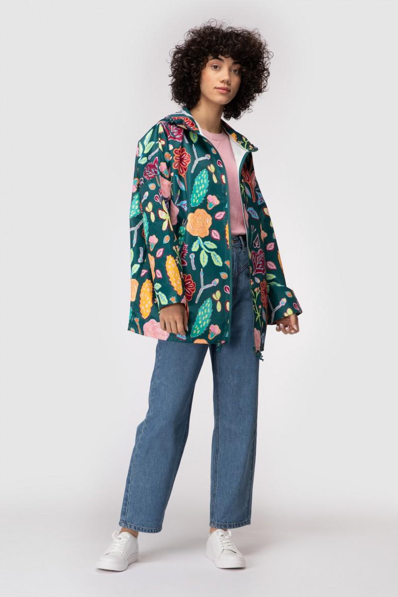 Pitched Petals Raincoat