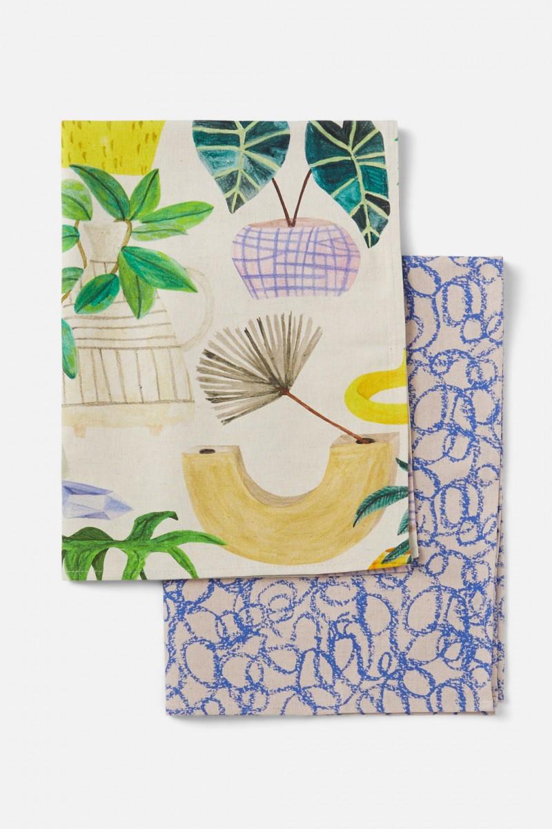 Green Gallery Tea Towel Set
