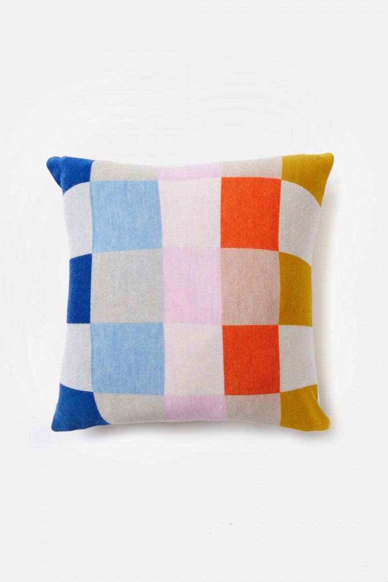 Rainbow Check Cushion