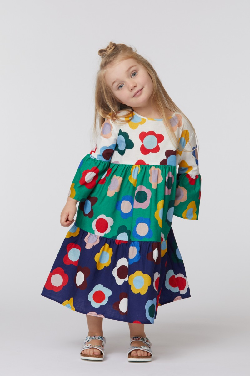 Happy Flowers Splice Dress