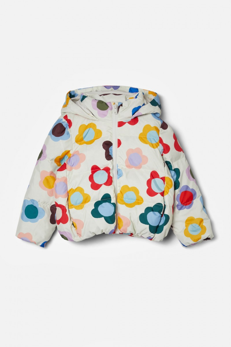 Happy Flowers Puffer Jacket