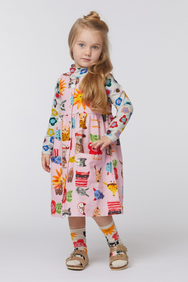 Animal Mask Smock Dress
