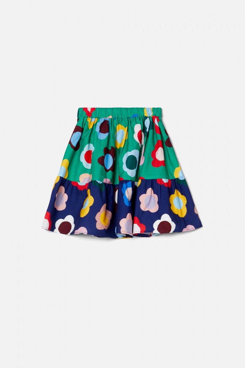 Happy Flowers Splice Skirt