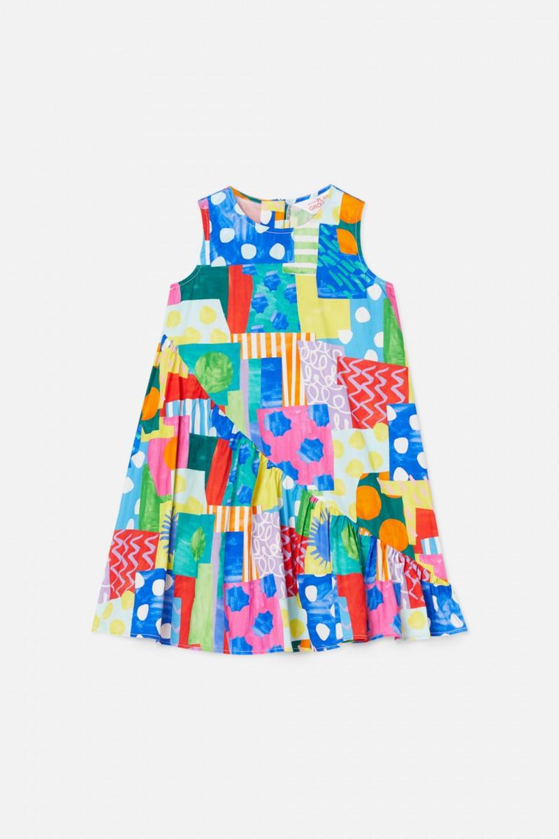 Spotty Blocky Dress