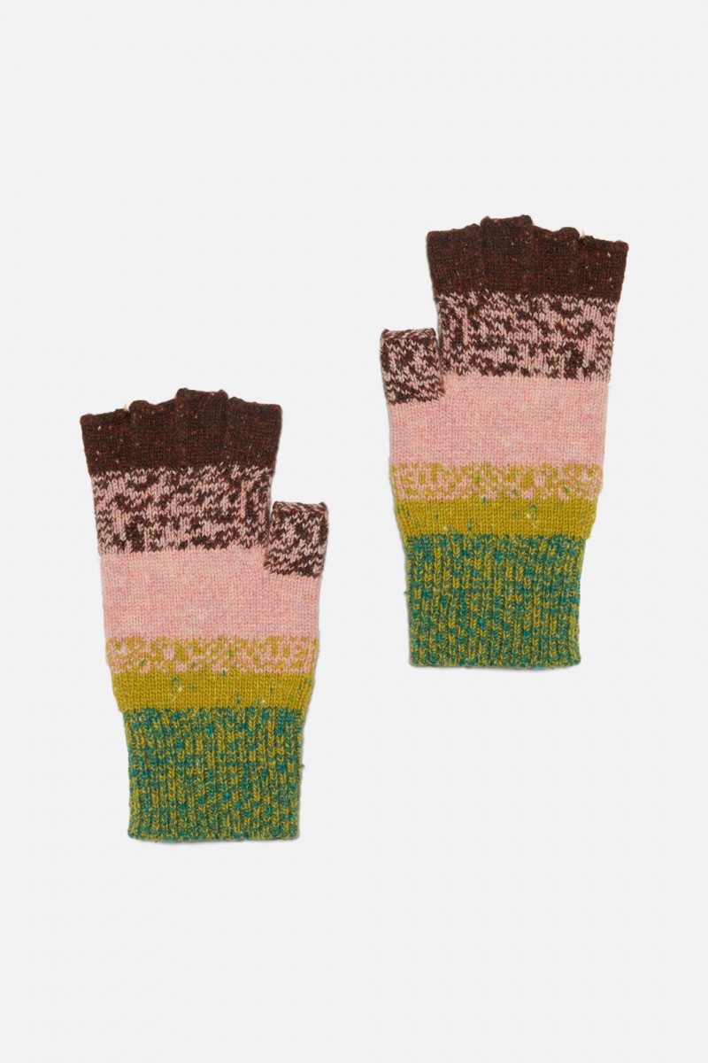 Rainbow Fleck Gloves