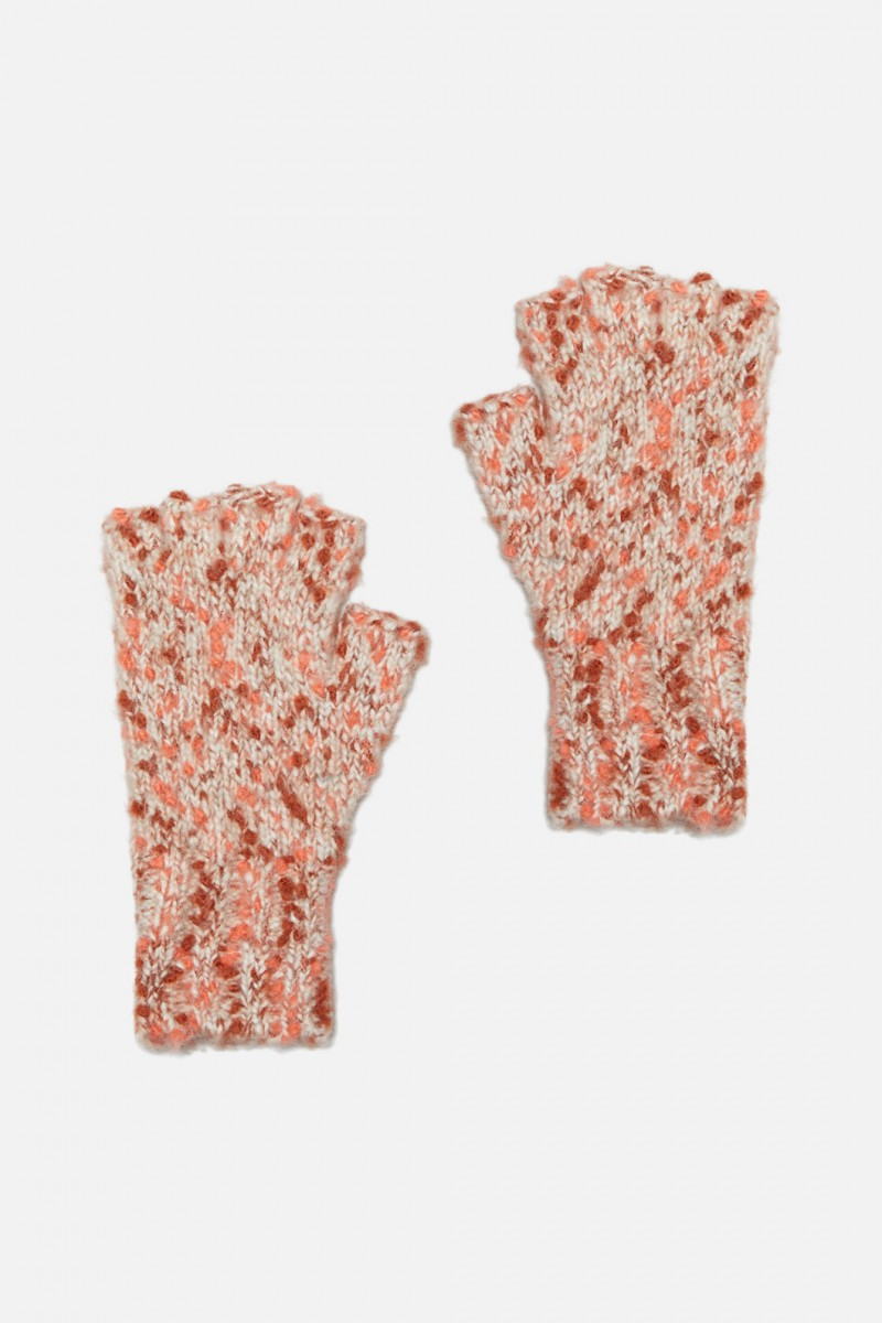 Peach Skin Fingerless Glove