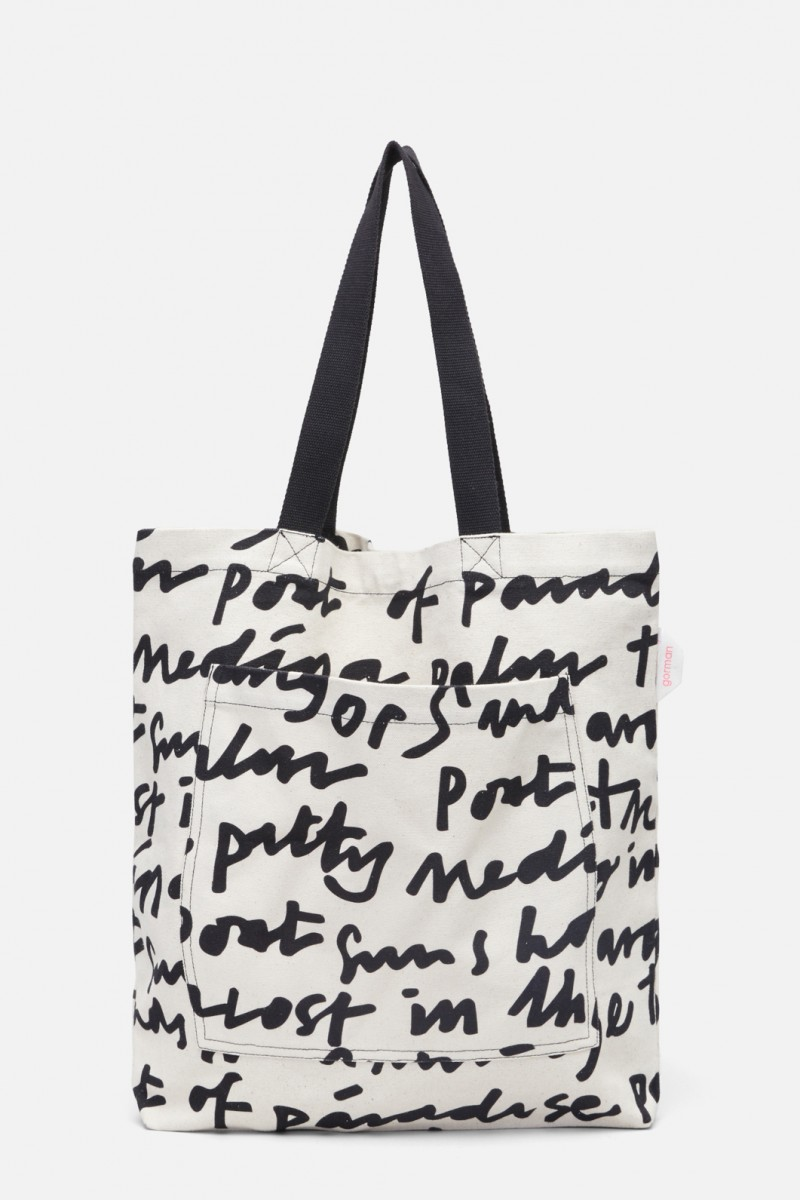 Lost In Translation Canvas Tote