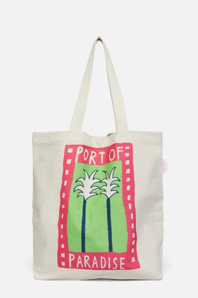 Port Of Paradise Canvas Tote