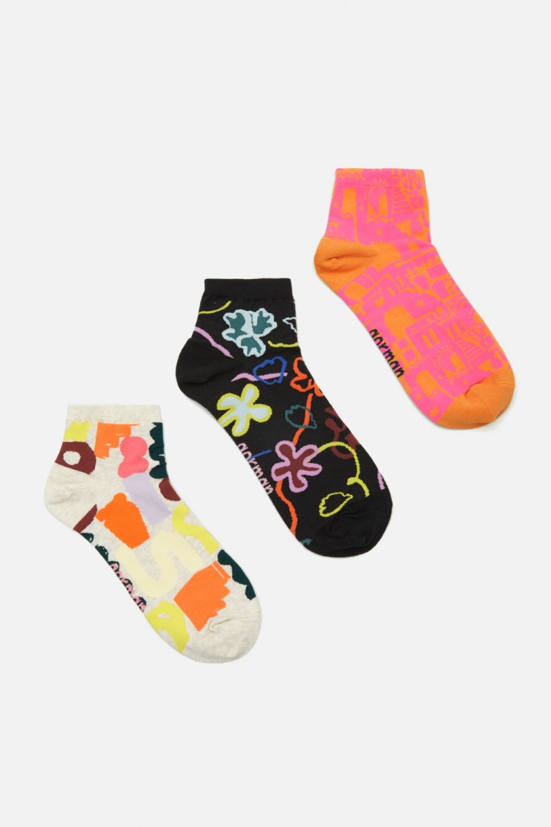Flowerbomb Ankle Sock Pack