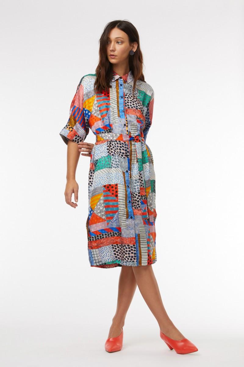 Meshed Kimono Dress
