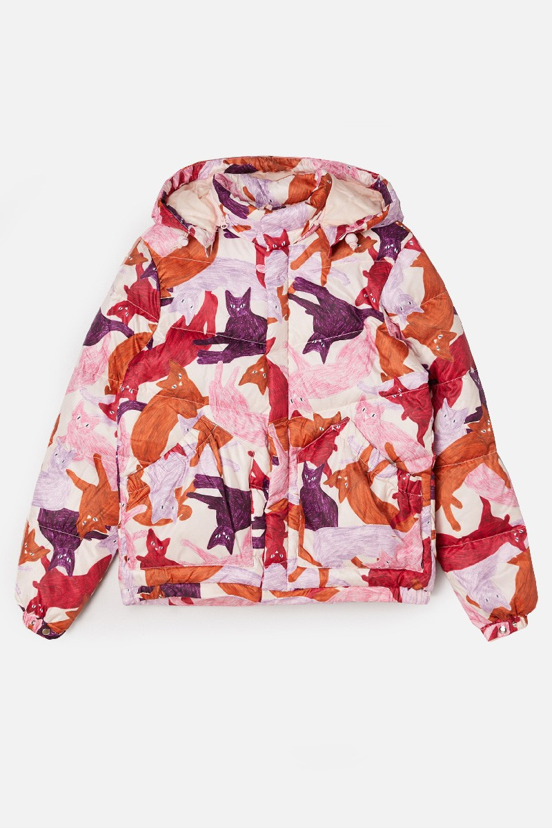 Cat Cafe Puffer Jacket