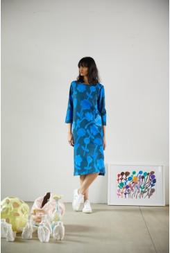 Flowing Florals Tee Dress