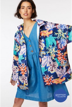 Floral Coral Raincoat