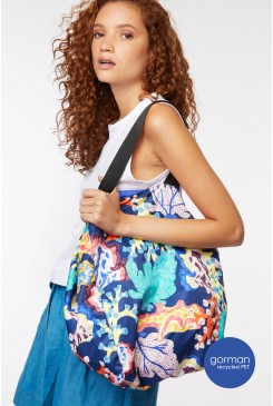 Floral Coral Tote