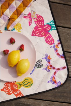 Orchid Friends Small Picnic Rug