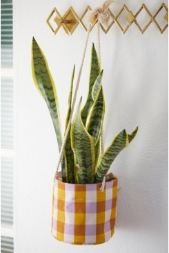Get It Gingham Hanging Planter