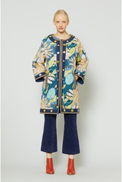 Starry Night Embroidered Coat