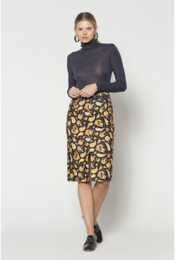 Paisley Cord Skirt