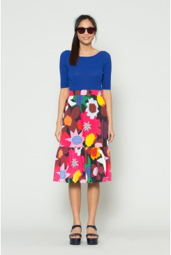 Geo Flower Pop Skirt