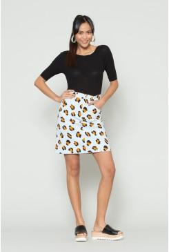 Leopardess Denim Mini