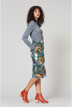 Green Fingers Denim Skirt