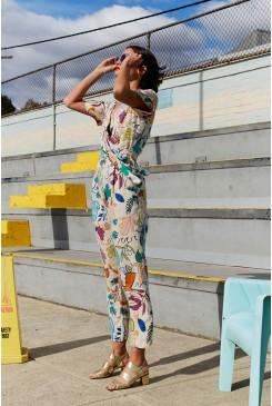 Athena Linen Pantsuit