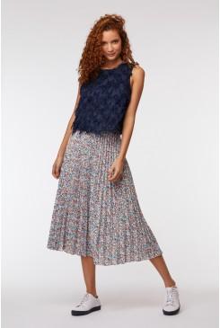 Mini Terazzo Pleat Skirt