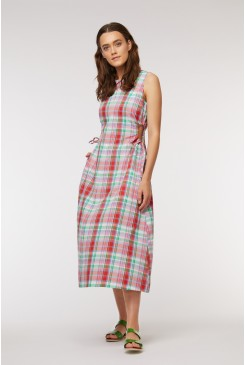 Madras Tie Dress