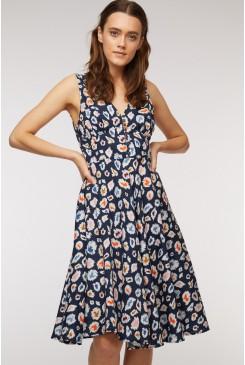 Juicy Fruit Button Dress
