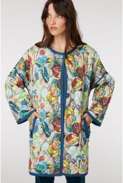 Crayon Garden Quilt Coat